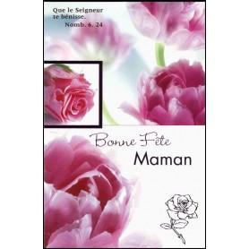 Carte double Bonne fête maman - Roses - Nomb 6.24