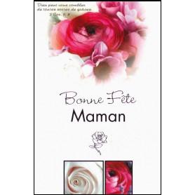 Carte double Bonne fête maman - Roses - 2 Cor 9.8