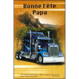 Carte double Bonne fête papa Camion - Ps 91.11