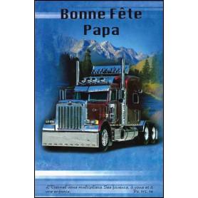Carte double Bonne fête papa Camion - Ps 115.14