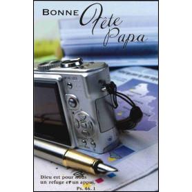 Carte double Bonne fête papa - Ps 46.1