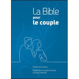 La Bible pour le couple Version Semeur couverture rigide bleue