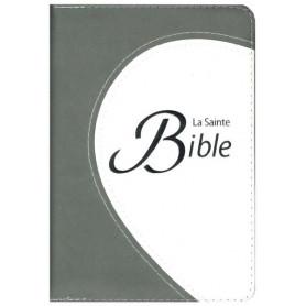 Bible Segond 1910 compacte souple duo gris tranche argentée fermeture éclair – CLCB270