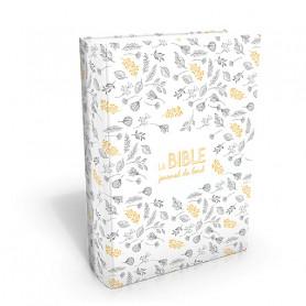 Bible Segond 21 Journal de Bord couverture vivella crème à motifs - SG19444