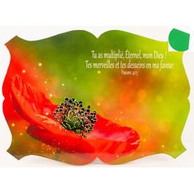 Cadre en bois Tu as multiplié, Eternel mon Dieu - Ps 40.5 - 27x19 cm - Bord Vert jungle