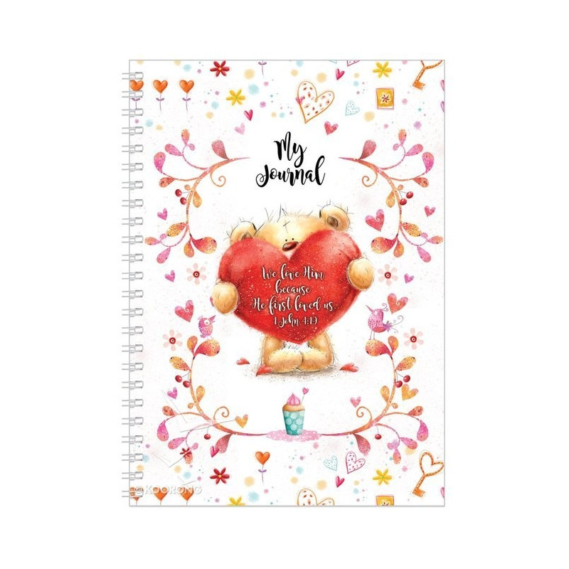 Carnet de notes Teddy Heart We love him because he first loved us - 81493