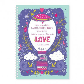 Carnet de notes Faith Hope Love - 81699