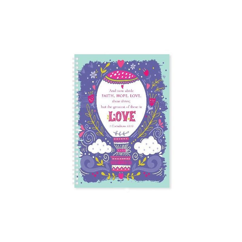 Carnet de notes Faith Hope Love - 81699