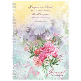 Carnet de notes Flower Graphic If anyone is in Christ he is a new creation - 81491