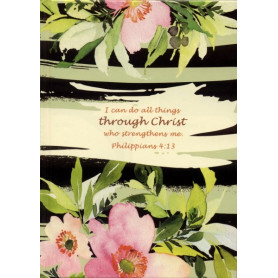 Carnet de notes Graphic Flower - I can do all things through Christ - 81734