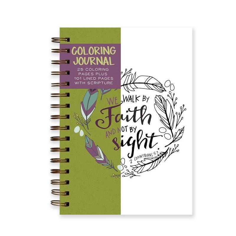 Carnet de coloriage Walk by Faith - 05855