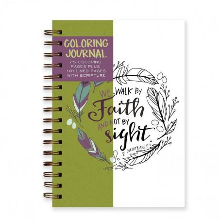 Carnet de notes et de coloriage Walk by Faith - 05855