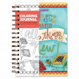 Carnet de notes et de coloriage Jesus makes all things new - 06059