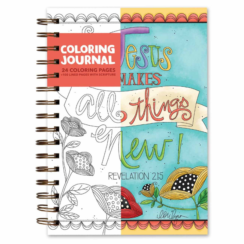 Carnet de coloriage Jesus makes all things new - 06059
