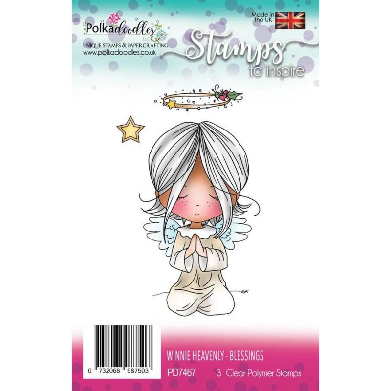 Tampons Winnie Heavenly Blessings – Polkadoodles Clear Stamps