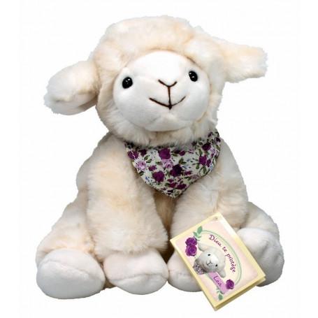 Peluche mouton Léa assis 15cm - 71319
