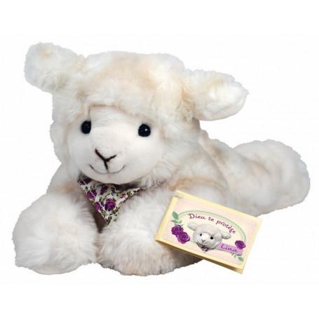 Peluche mouton Lina couché 22cm - 71318
