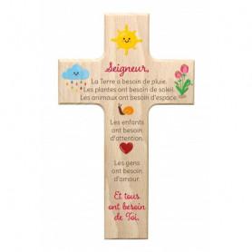 Croix en bois Tous ont besoin de Toi 9x15cm– 72536