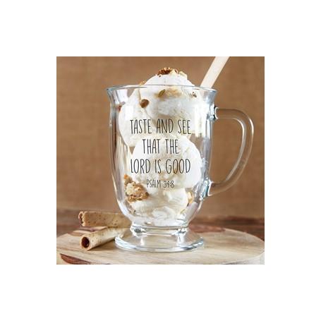 Mug en verre Taste and see