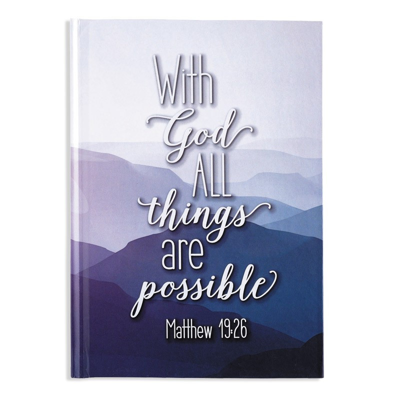 Petit Carnet de notes With God all things are possible - 54347