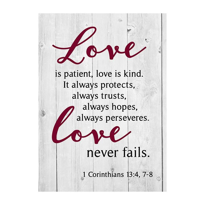 Petit Carnet de notes Love never fails - 48383