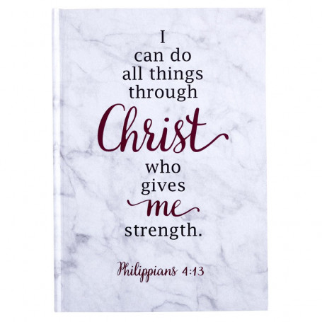 Petit Carnet de notes I can do all things through Christ - 54345