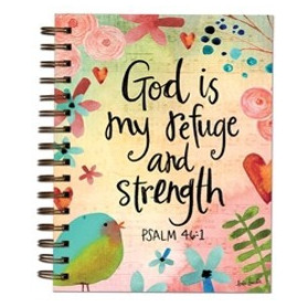 Carnet de notes God is my refuge and strength - 06618