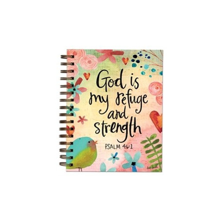 Carnet de notes God is my refuge and strength - 06618