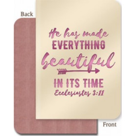 Carnet de notes He has made everything beautiful in its time - 81828