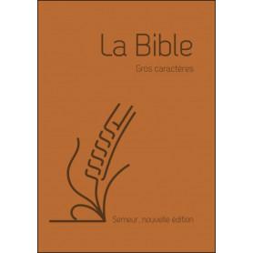Bible Semeur gros caractères souple marron