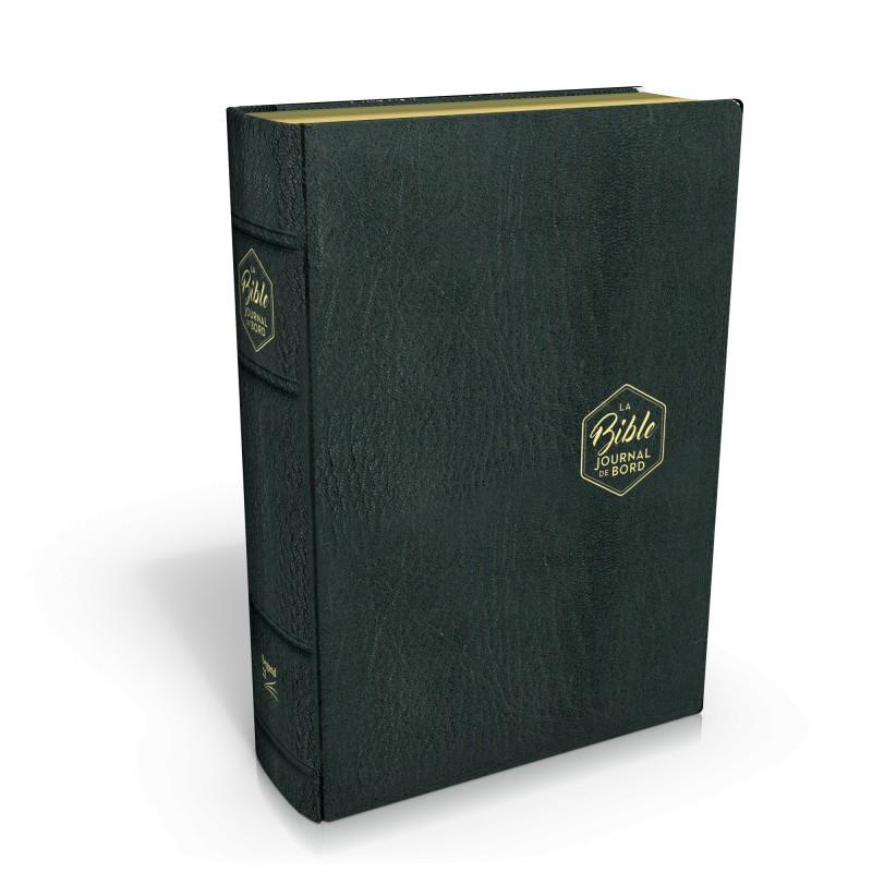 Bible Segond 21 Journal de Bord couverture cuir véritable noir - SG19469