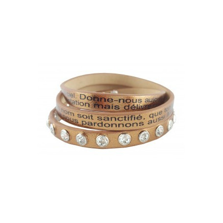 Bracelet Notre Père bronze - 7526531 - Uljo