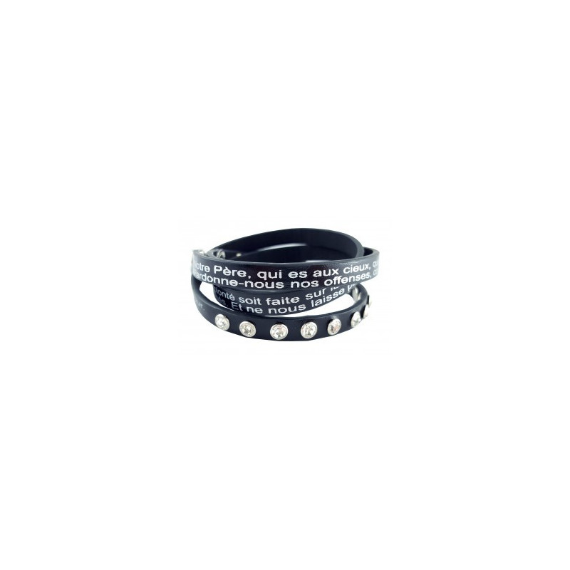 Bracelet Notre Père noir - 752654 - Uljo