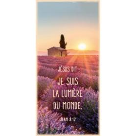 Marque-page Magnet Jésus dit : Je suis la lumière du monde