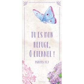 Marque-page Magnet Tu es mon efuge, O Eternel