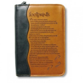 Housse de Bible Large – Footprints Duo tone