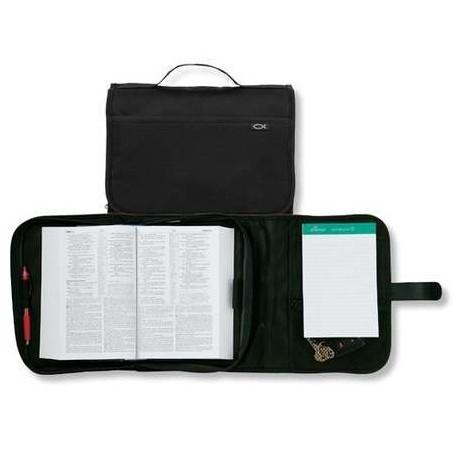 Housse de Bible Large Tri Fold - Ichthus Noir