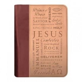 Housse de Bible Large – Names of Jesus Duo Tone