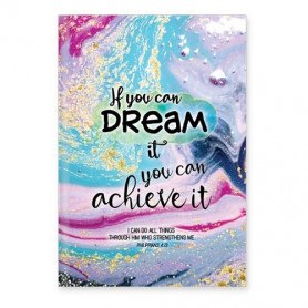 Carnet de notes If you can dream it you can achieve it - 81861