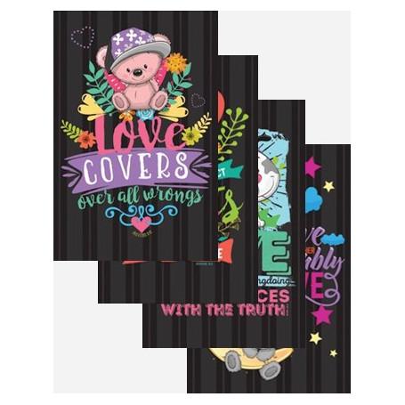 Set de 4 carnets Memopads - Love Series