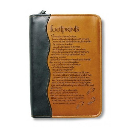 Housse de Bible Large – Footprints Duo tone