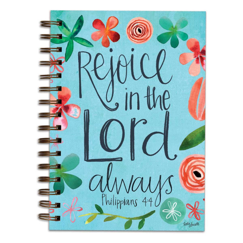 Carnet de notes Rejoice in the Lord always - 06745