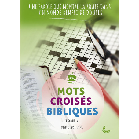 Mots croisés bibliques pour adultes tome 2 - Éditions LLB