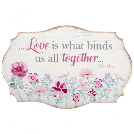 Tableau fleur Love is what binds us all together Col 3.14 - 5431 - Praisent