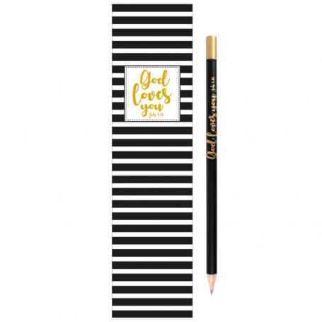 Crayon et signet God loves you - 4420 - Praisent