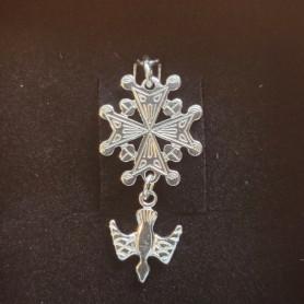 3 strass en métal argenté CROIX embellissements//Carte Crafts Baptême