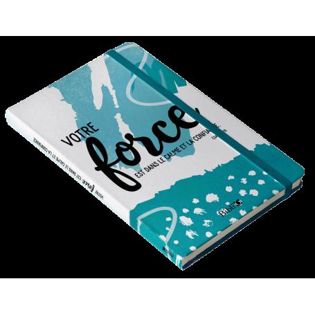 Carnet de notes bleu - Votre force est dans le calme et la confiance - SB6057