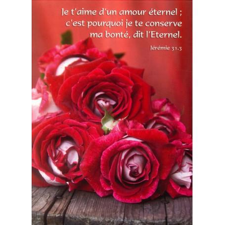 Carte Simple Je T Aime D Un Amour éternel Jér 31 3