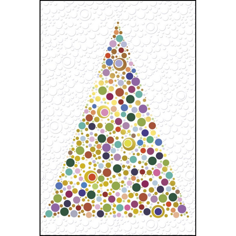 Carte voeux sapin