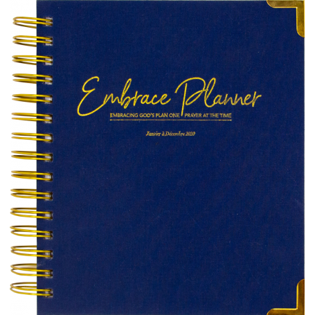 Embrace Planner 2020 - NAVY BLUE WOVEN